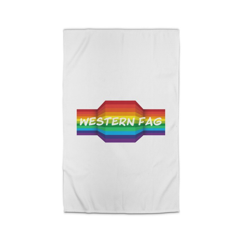 Western Fag Home Rug by 21 Squirrels Brewery Shop