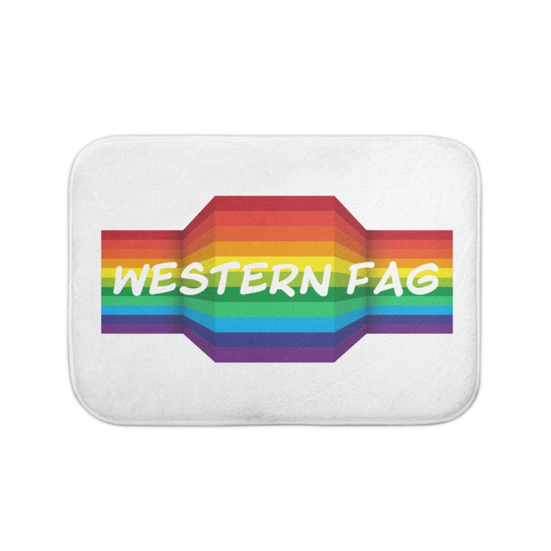 Western Fag Home Bath Mat by 21 Squirrels Brewery Shop