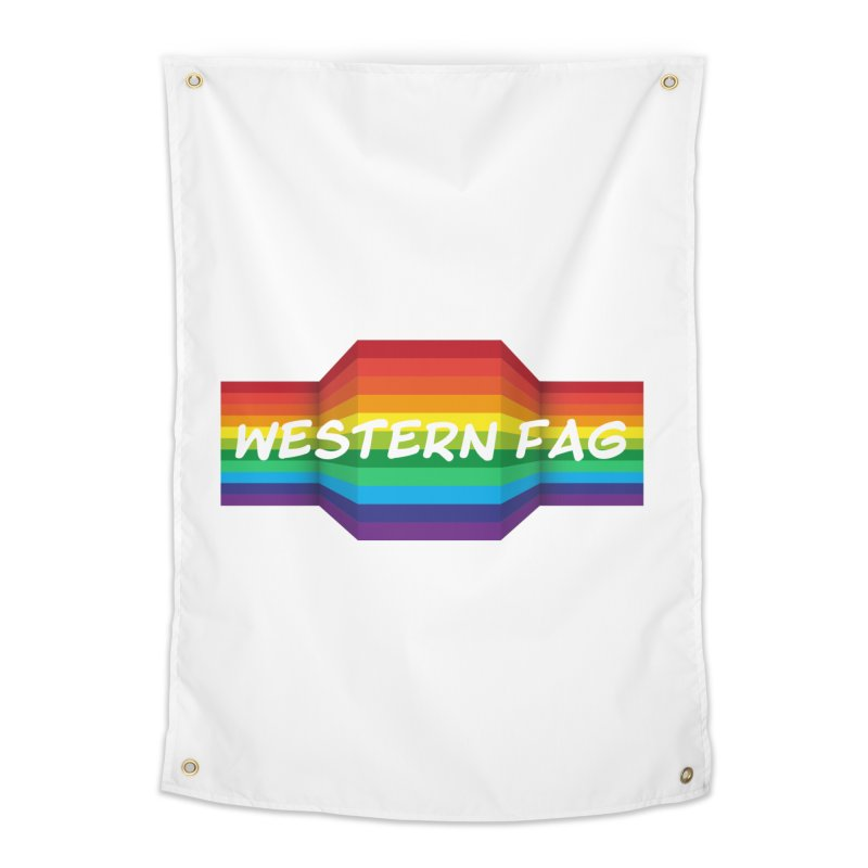 Western Fag Home Tapestry by 21 Squirrels Brewery Shop