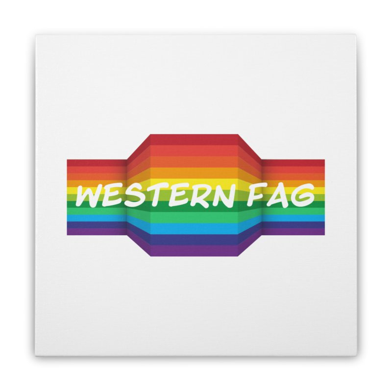 Western Fag Home Stretched Canvas by 21 Squirrels Brewery Shop