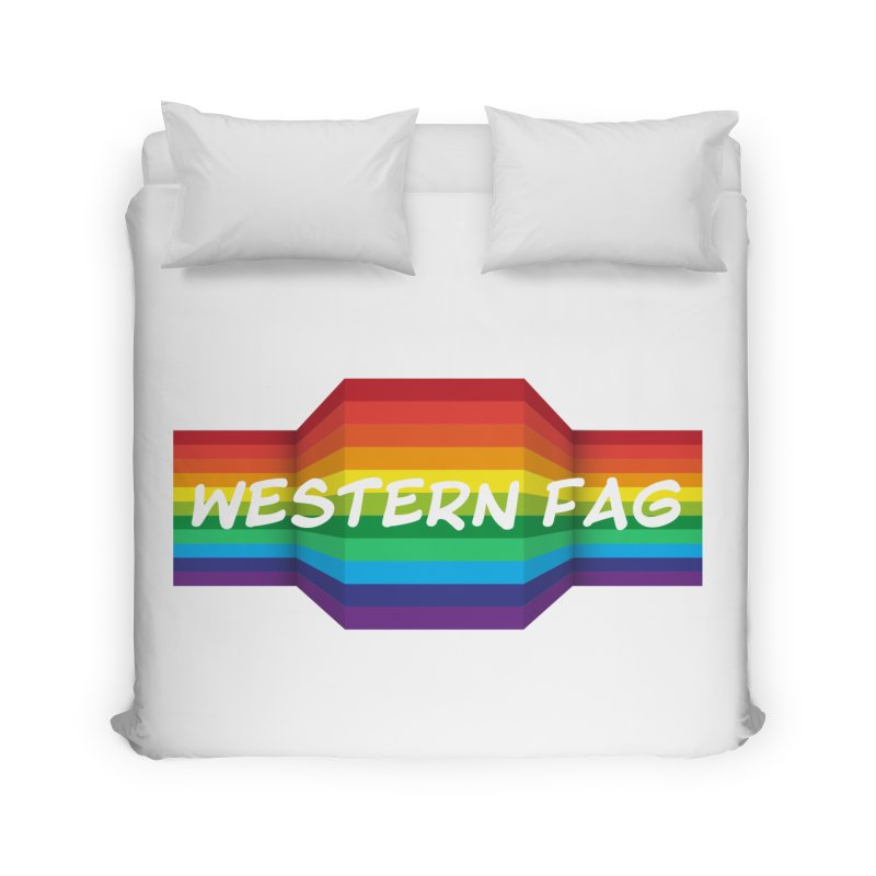 Western Fag Home Duvet by 21 Squirrels Brewery Shop