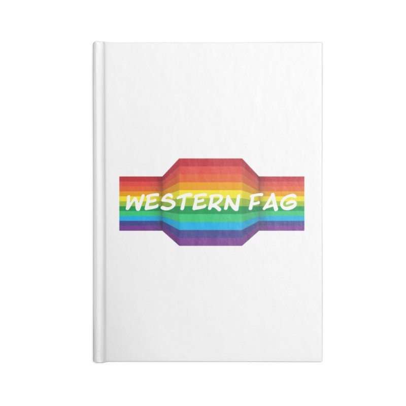 Western Fag Accessories Lined Journal Notebook by 21 Squirrels Brewery Shop