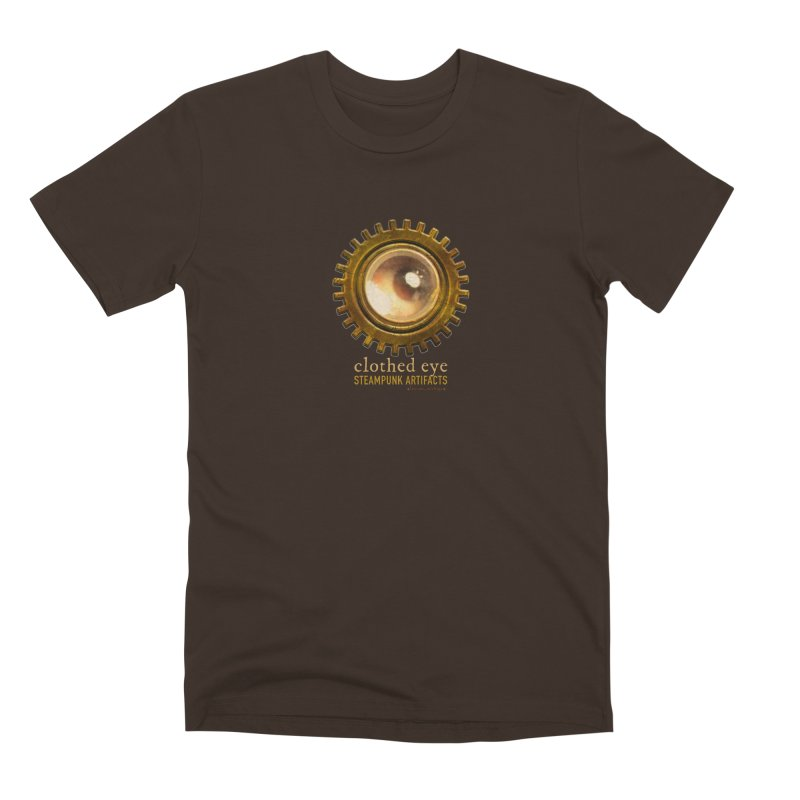 Clothed Eye Logo - Steampunk Artifacts Men's Premium T-Shirt by 21 Squirrels Brewery Shop