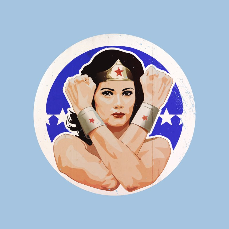 Lynda Carter as Wonder Woman Illustration by 21 Squirrels Brewery Shop