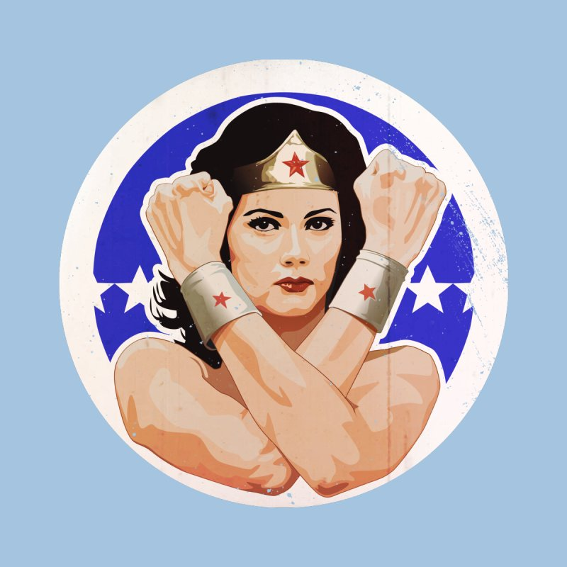 Lynda Carter as Wonder Woman Illustration Accessories Face Mask by 21 Squirrels Brewery Shop