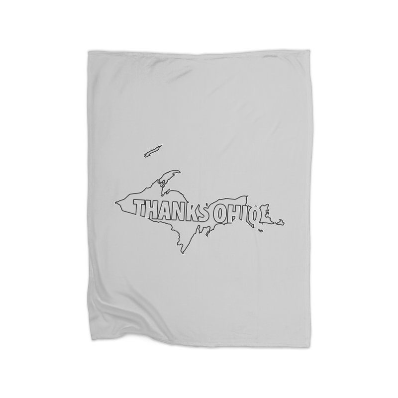 Thanks Ohio! Home Fleece Blanket Blanket by 21 Squirrels Brewery Shop