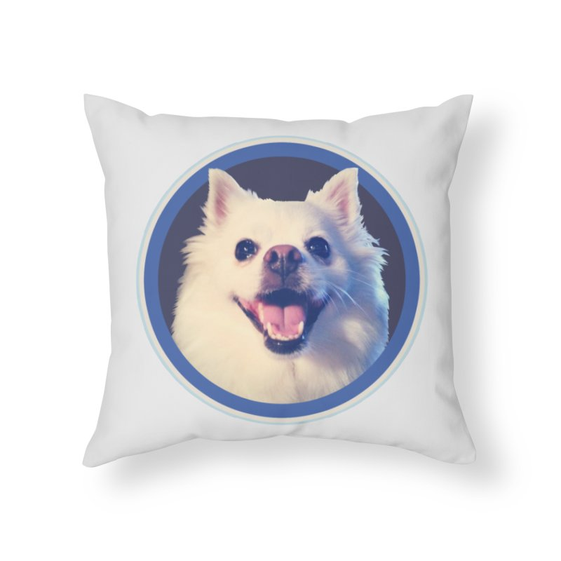 Connie is very happy Home Throw Pillow by 21 Squirrels Brewery Shop