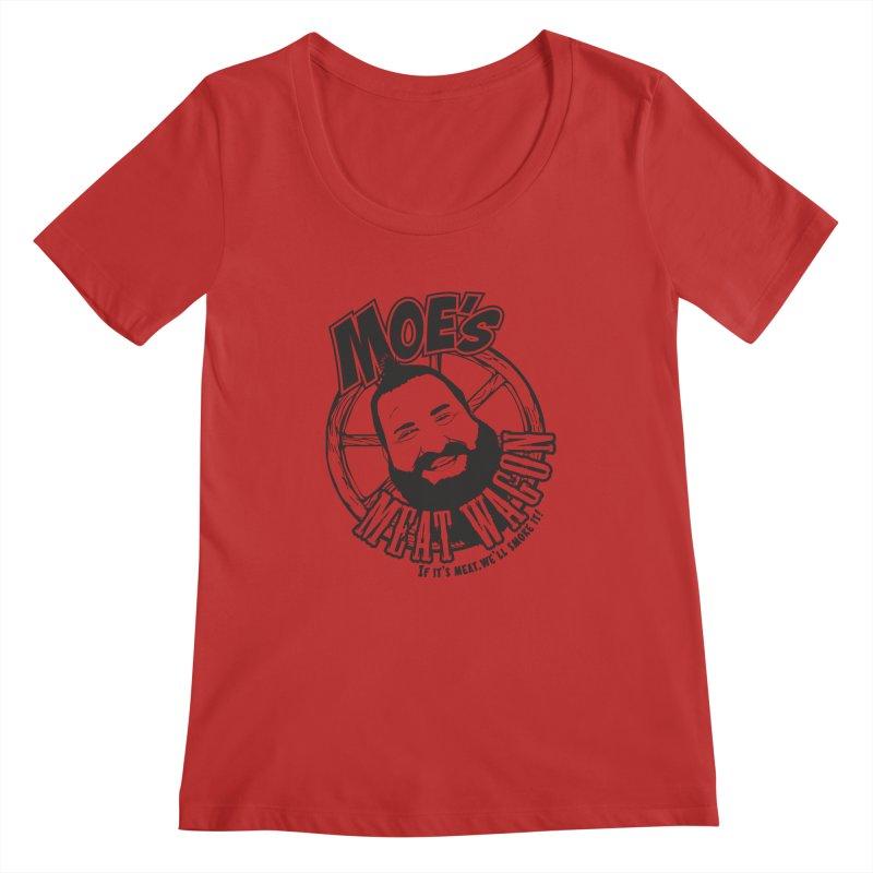 Moe's Meat Wagon Women's Regular Scoop Neck by 21 Squirrels Brewery Shop