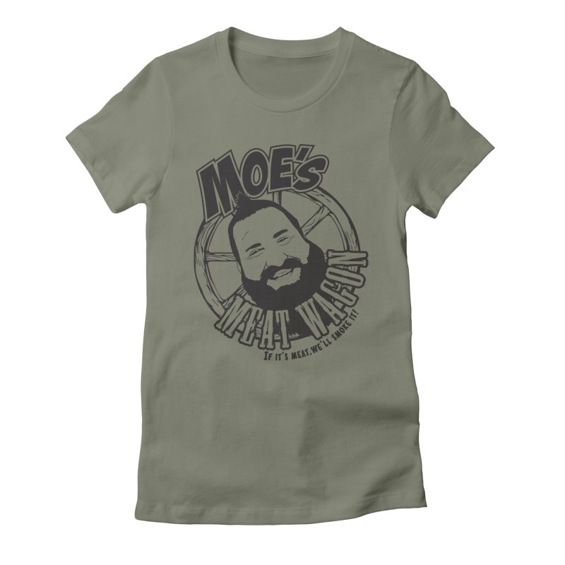 Moe's Meat Wagon Women's Fitted T-Shirt by 21 Squirrels Brewery Shop
