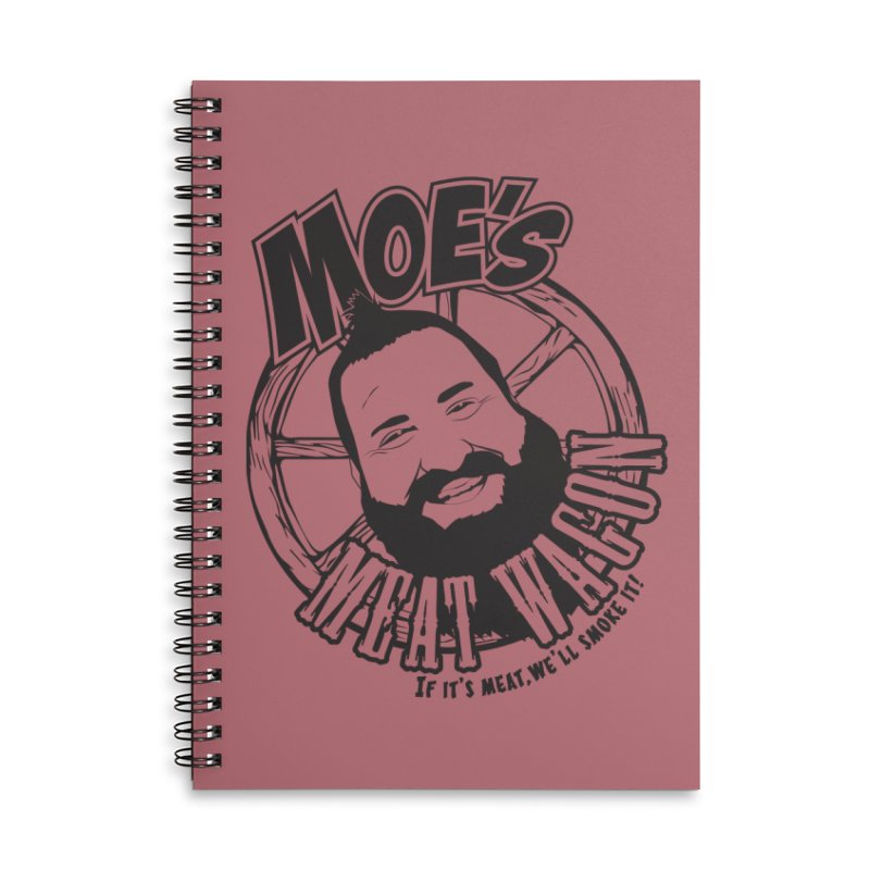 Moe's Meat Wagon Accessories Lined Spiral Notebook by 21 Squirrels Brewery Shop