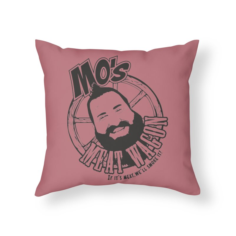 Mo's Meat Wagon Home Throw Pillow by 21 Squirrels Brewery Shop