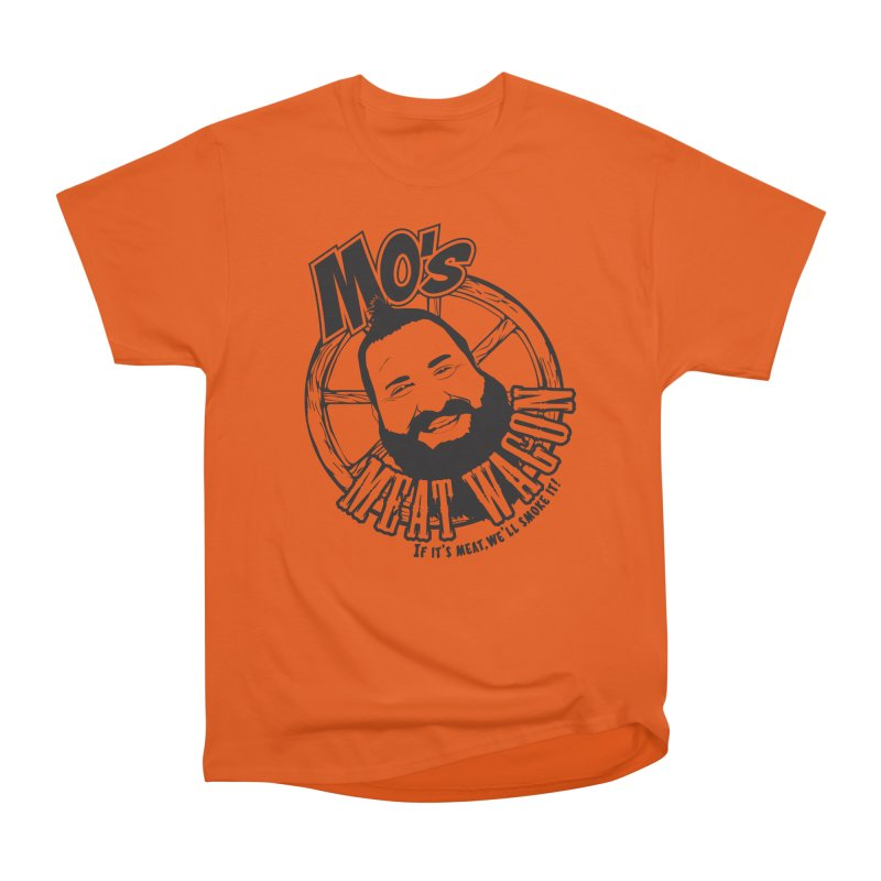 Mo's Meat Wagon Women's Heavyweight Unisex T-Shirt by 21 Squirrels Brewery Shop