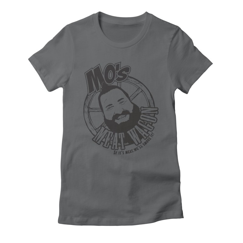 Mo's Meat Wagon Women's Fitted T-Shirt by 21 Squirrels Brewery Shop