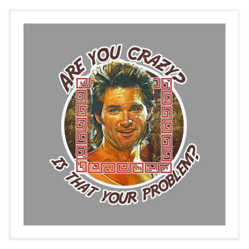 Are you crazy? Is that your problem? Home Fine Art Print by 21 Squirrels Brewery Shop