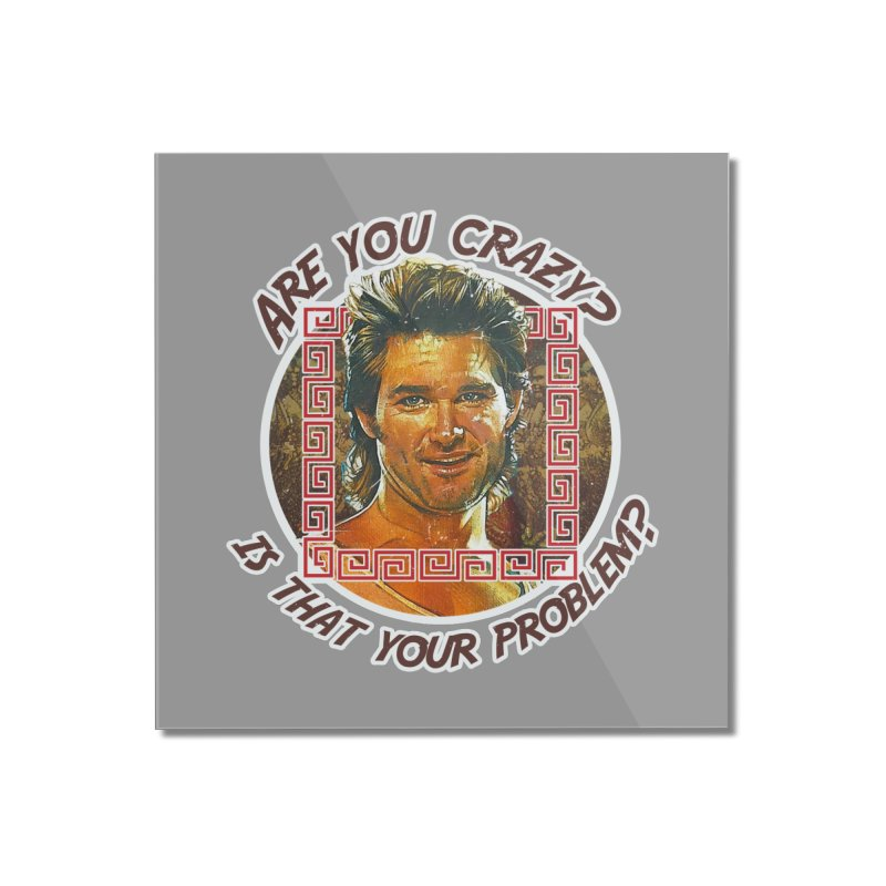 Are you crazy? Is that your problem? Home Mounted Acrylic Print by 21 Squirrels Brewery Shop
