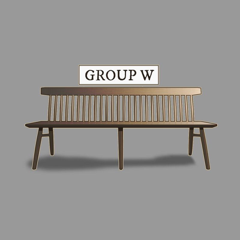 Group W Bench by 21 Squirrels Brewery Shop
