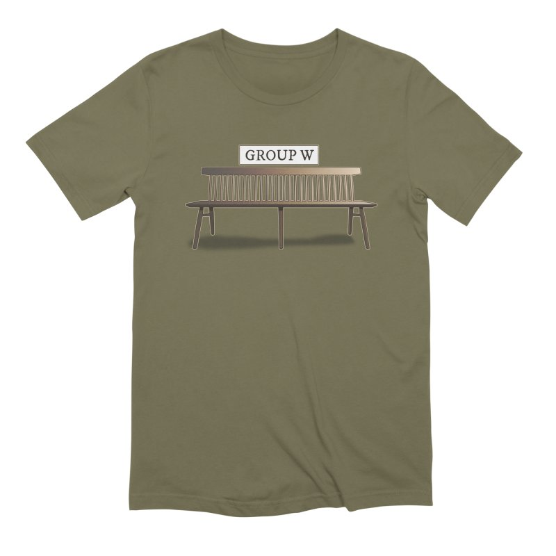 Group W Bench Men's Extra Soft T-Shirt by 21 Squirrels Brewery Shop