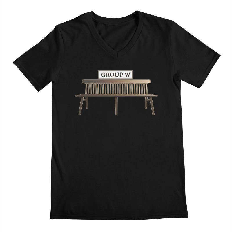 Group W Bench Men's Regular V-Neck by 21 Squirrels Brewery Shop