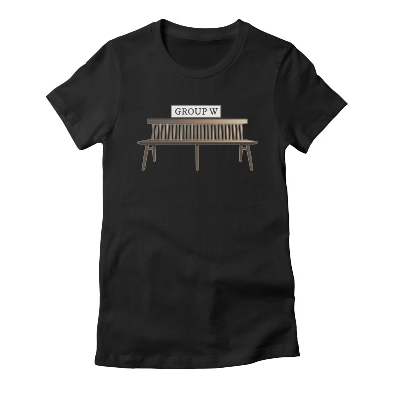 Group W Bench Women's Fitted T-Shirt by 21 Squirrels Brewery Shop