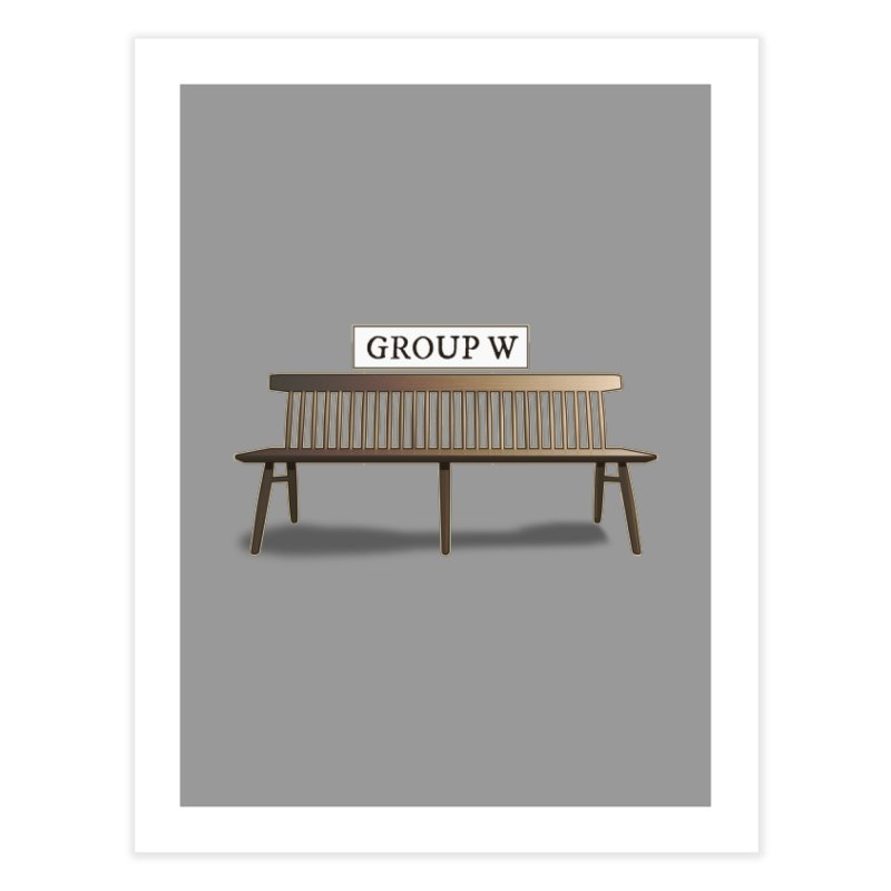 Group W Bench Home Fine Art Print by 21 Squirrels Brewery Shop