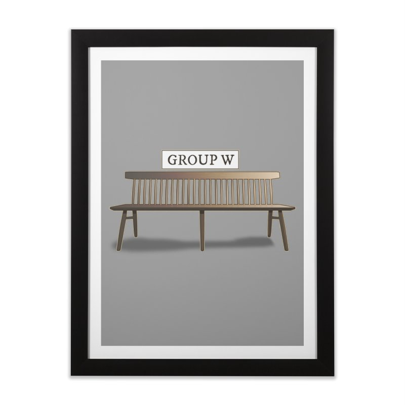 Group W Bench Home Framed Fine Art Print by 21 Squirrels Brewery Shop