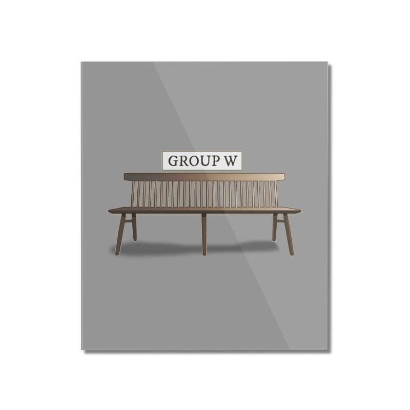 Group W Bench Home Mounted Acrylic Print by 21 Squirrels Brewery Shop