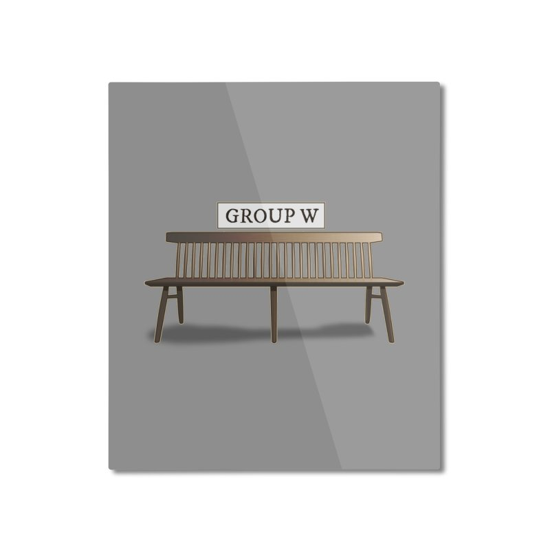 Group W Bench Home Mounted Aluminum Print by 21 Squirrels Brewery Shop