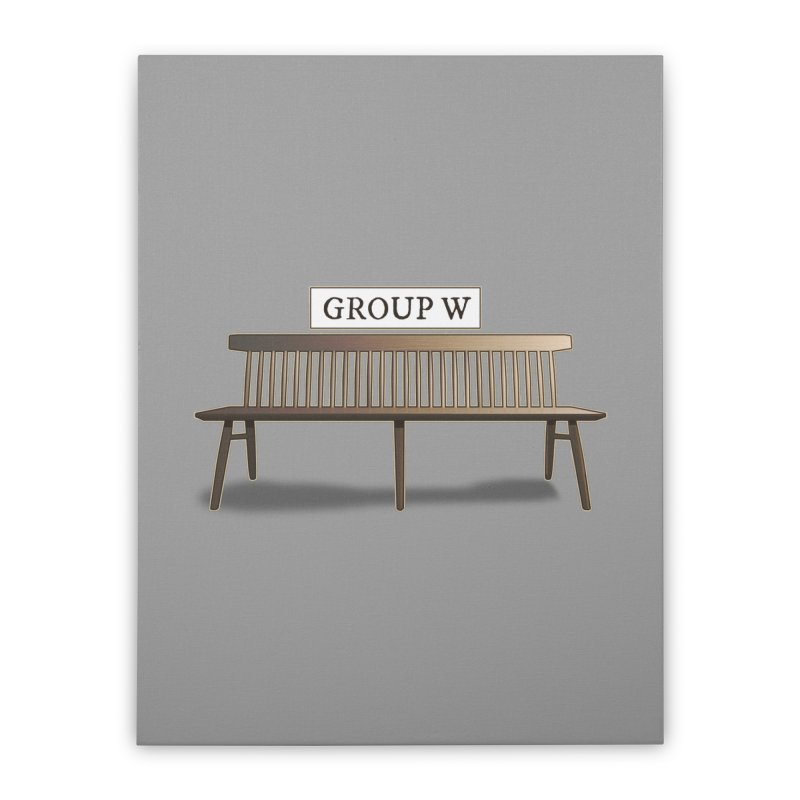Group W Bench Home Stretched Canvas by 21 Squirrels Brewery Shop