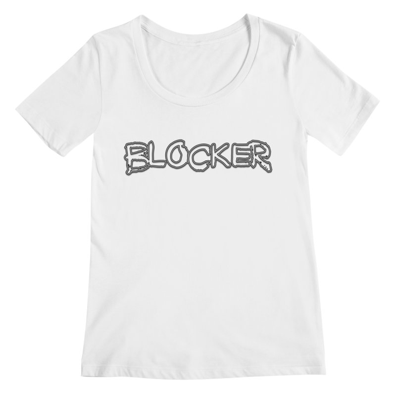 Blocker Women's Regular Scoop Neck by 21 Squirrels Brewery Shop