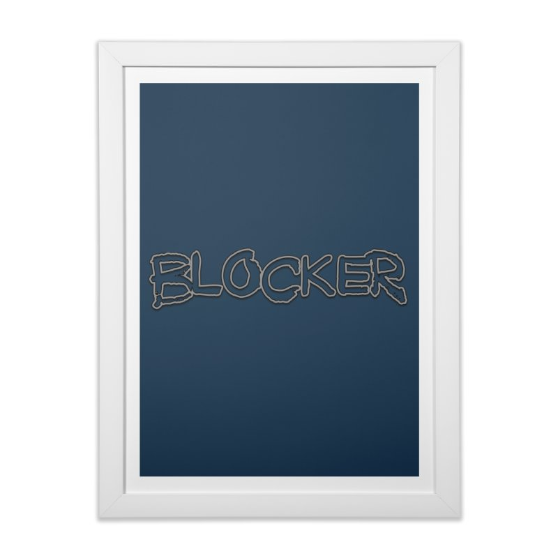 Blocker Home Framed Fine Art Print by 21 Squirrels Brewery Shop