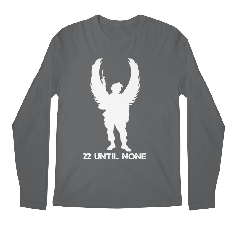 22 Until None Logo White Men's Longsleeve T-Shirt by 22UntilNone's Shop