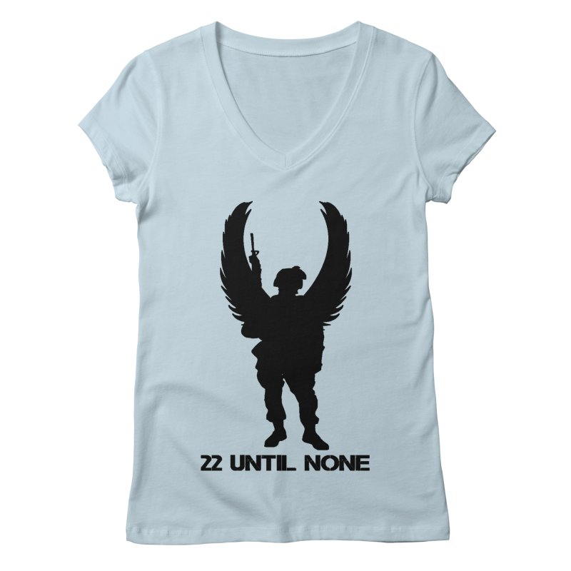 22 Until None Logo Black Women's V-Neck by 22UntilNone's Shop