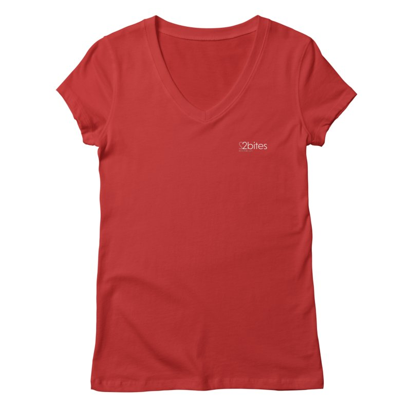 Corporate Clean in Women's V-Neck Red by 2bites's Artist Shop