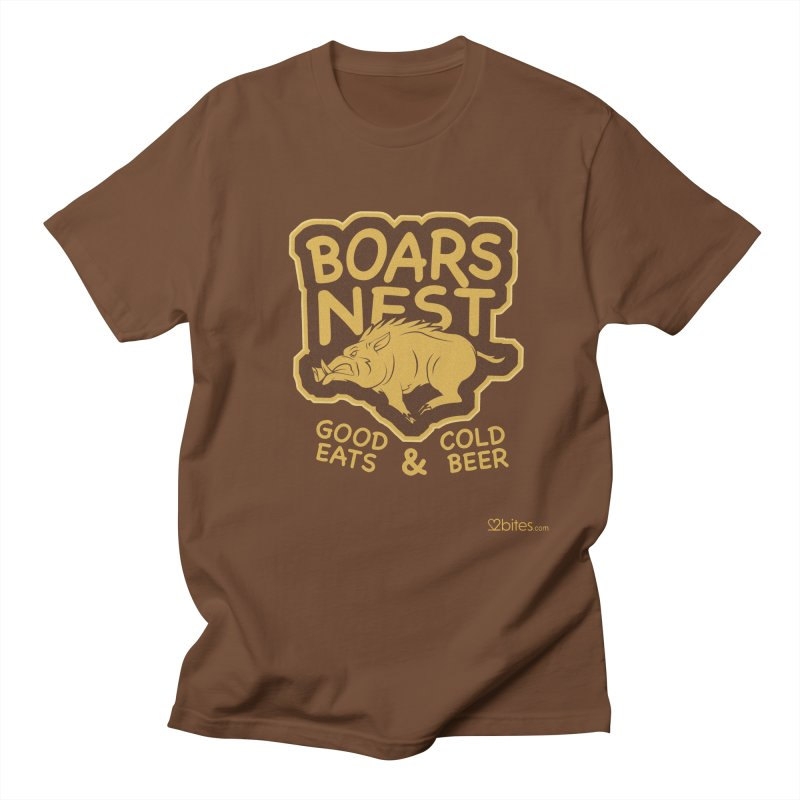Boars Nest in Men's T-shirt Brown by 2bites's Artist Shop