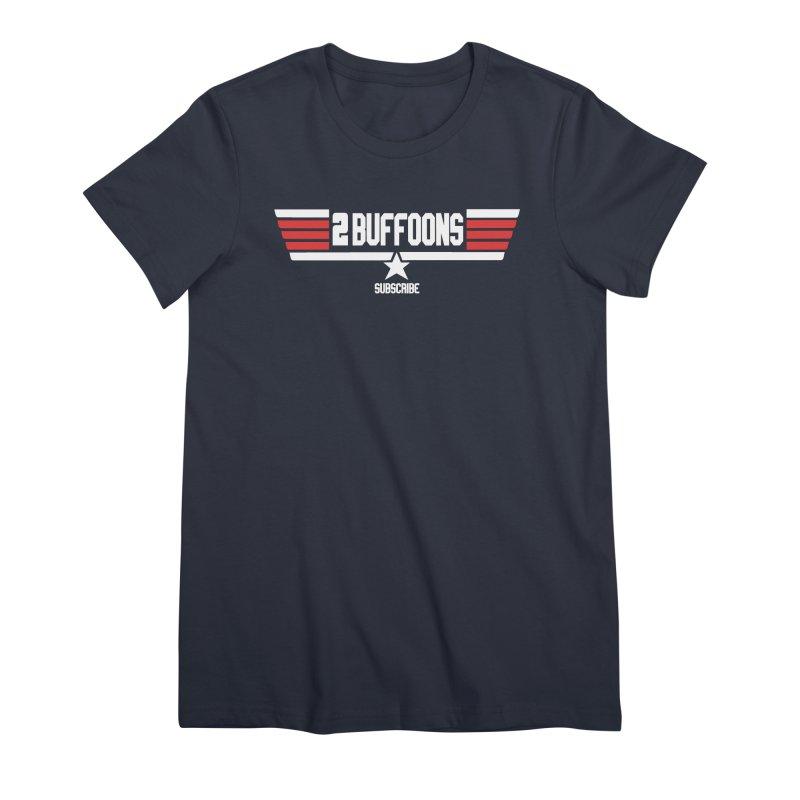 Top Buffoons Maverick Gun Women's Premium T-Shirt by 2buffoons's Artist Shop