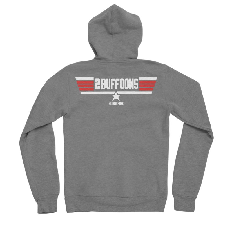 Top Buffoons Maverick Gun Men's Sponge Fleece Zip-Up Hoody by 2buffoons's Artist Shop