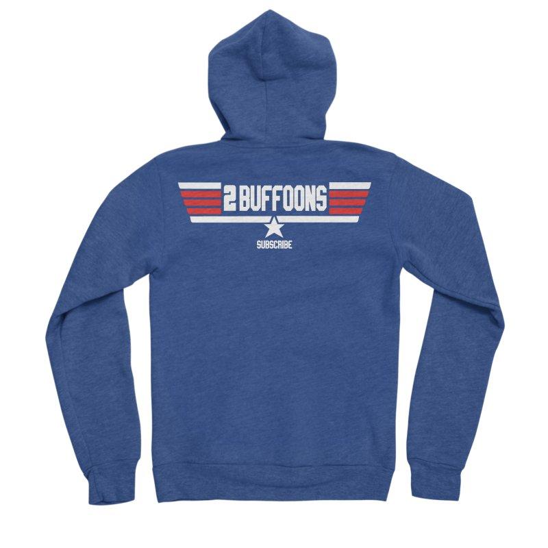 Top Buffoons Maverick Gun Women's Sponge Fleece Zip-Up Hoody by 2buffoons's Artist Shop