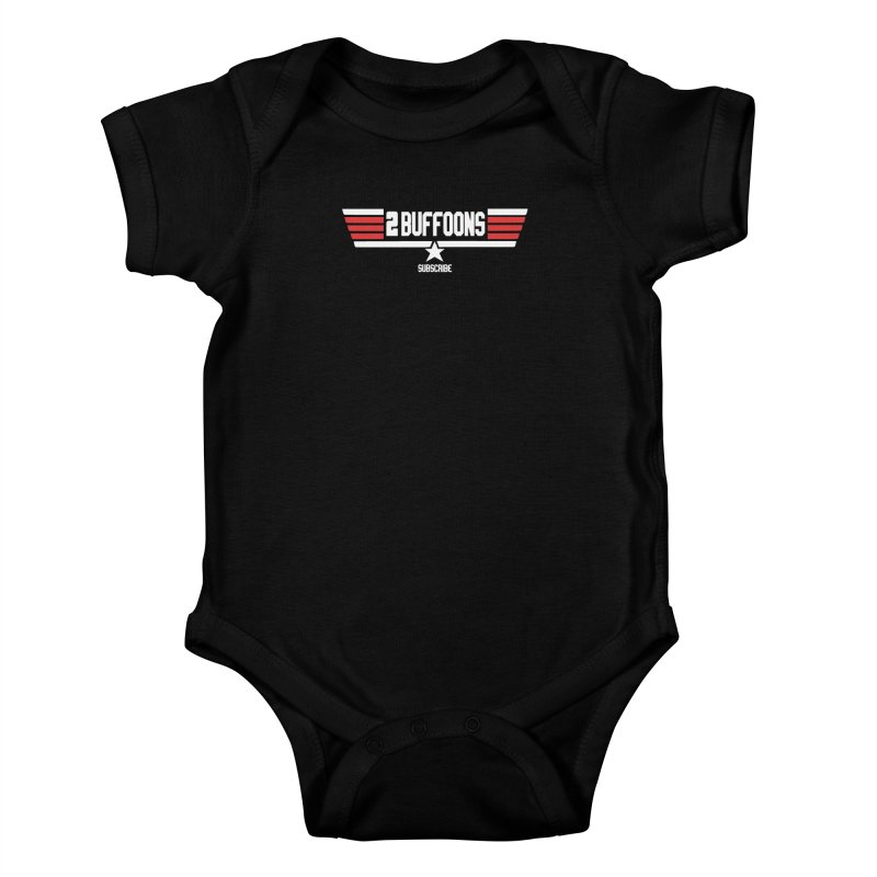 Top Buffoons Maverick Gun Kids Baby Bodysuit by 2buffoons's Artist Shop