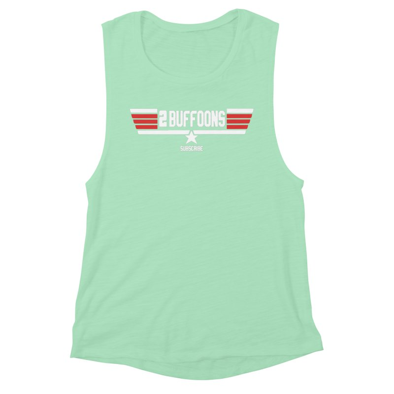 Top Buffoons Maverick Gun Women's Muscle Tank by 2buffoons's Artist Shop