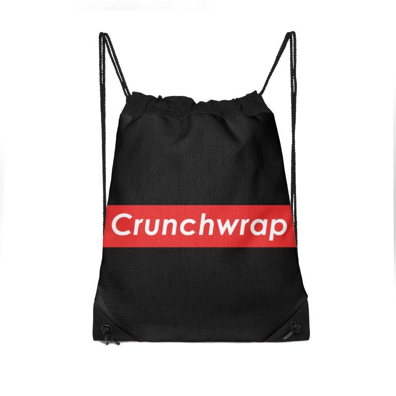 CrunchWrap Accessories Drawstring Bag Bag by 2buffoons's Artist Shop
