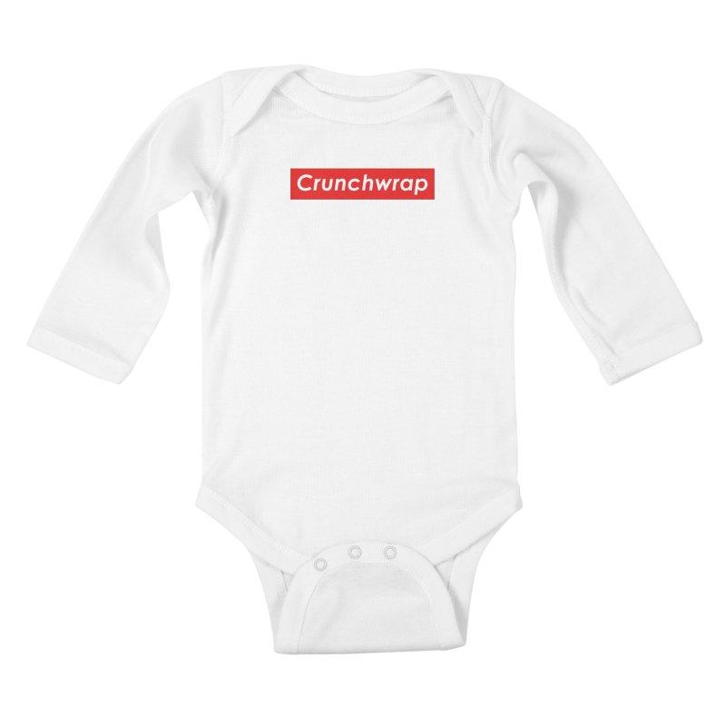 CrunchWrap Kids Baby Longsleeve Bodysuit by 2buffoons's Artist Shop
