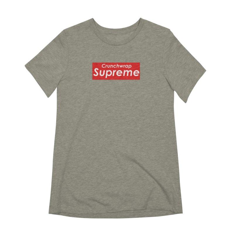 SUPREME CRUNCHWRAP Women's Extra Soft T-Shirt by 2buffoons's Artist Shop