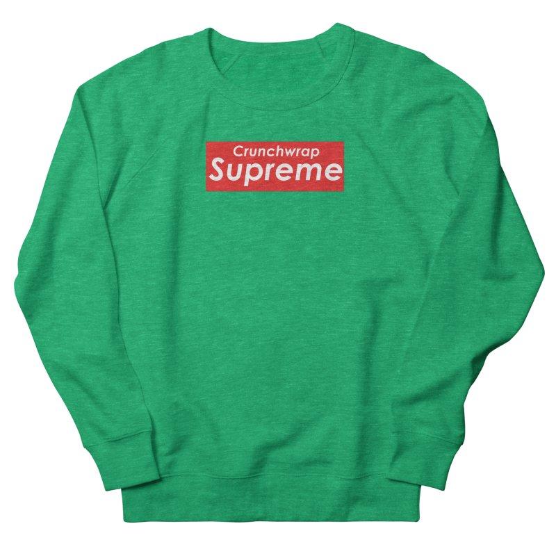 SUPREME CRUNCHWRAP Women's French Terry Sweatshirt by 2buffoons's Artist Shop