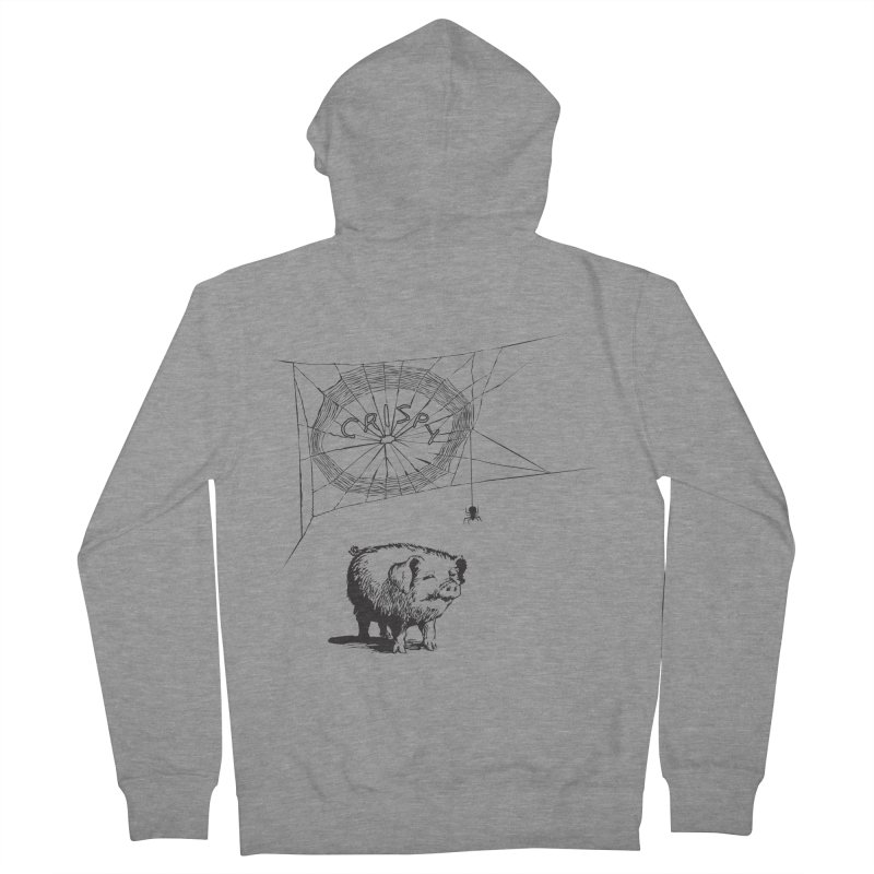 Charlotte's Web of Deceipt Men's French Terry Zip-Up Hoody by 2D