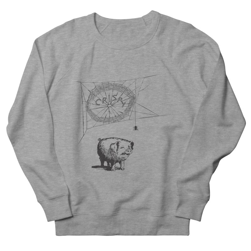 Charlotte's Web of Deceipt Men's French Terry Sweatshirt by 2D