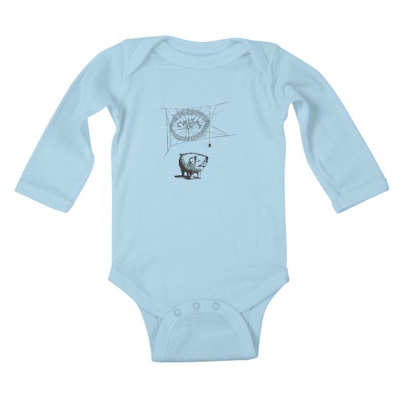 Charlotte's Web of Deceipt Kids Baby Longsleeve Bodysuit by 2D