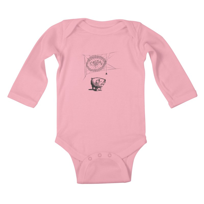 Charlotte's Web of Deceipt Kids Baby Longsleeve Bodysuit by 2D