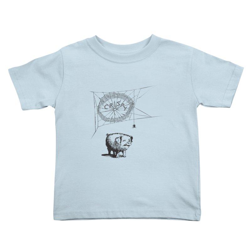 Charlotte's Web of Deceipt Kids Toddler T-Shirt by 2D