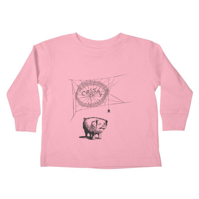 Charlotte's Web of Deceipt Kids Toddler Longsleeve T-Shirt by 2D