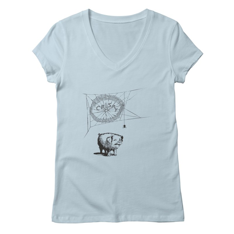 Charlotte's Web of Deceipt Women's V-Neck by 2D